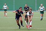 v.li.: Lucina von der Heyde (MHC, 2), Lara Birkner (Mülheim, 4), Zweikampf, Spielszene, Duell, duel, tackle, tackling, Dynamik, Action, Aktion, 01.05.2021, Mannheim  (Deutschland), Hockey, Deutsche Meisterschaft, Viertelfinale, Damen, Mannheimer HC - HTC Uhlenhorst Mülheim <br /> <br /> Foto © PIX-Sportfotos *** Foto ist honorarpflichtig! *** Auf Anfrage in hoeherer Qualitaet/Aufloesung. Belegexemplar erbeten. Veroeffentlichung ausschliesslich fuer journalistisch-publizistische Zwecke. For editorial use only.