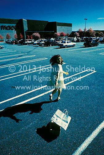 Woman running from unseen pursuer<br />