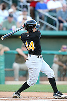 Chris Pettit #14 of the Salt Lee Bees plays in a Pacific Coast League game against the Tucson Padres  at Kino Stadium on April 17, 2011  in Tucson, Arizona. .Photo by:  Bill Mitchell/Four Seam Images.