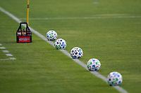 SAN JOSE, CA - SEPTEMBER 5: Soccer balls before a game between Colorado Rapids and San Jose Earthquakes at Earthquakes Stadium on September 5, 2020 in San Jose, California.