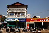 Pool of Viroth Hotel, Siem Reap, Cambodia, February 2021.