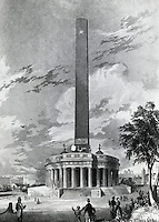 Original Design For The Washington National Monument Robert Mills (1781-1855 American)