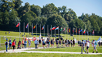 Team New Zealand walk the cross country for the CCIO4*-S. FRA-Le Grand Complet - Haras du Pin FEI Nations Cup Eventing. Le Pin au Haras. Normandie. France. Saturday 14 August 2021. Copyright Photo: Libby Law Photography