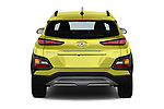 Straight rear view of a 2019 Hyundai Kona Limited DCT 5 Door SUV stock images