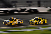 NASCAR Camping World Truck Series<br /> NextEra Energy Resources 250<br /> Daytona International Speedway, Daytona Beach, FL USA<br /> Friday 16 February 2018<br /> David Gilliland, Kyle Busch Motorsports, Pedigree Toyota Tundra, Cody Coughlin, GMS Racing, Jeg's.com Chevrolet Silverado<br /> World Copyright: John K Harrelson<br /> LAT Images