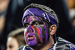 TCU Horned Frogs fans show their support for TCU before and during the game between the Kansas State Wildcats and the TCU Horned Frogs at the Amon G. Carter Stadium in Fort Worth, Texas. Kansas State defeats TCU 23 to 10....