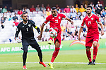 Salem Alajalin of Jordan (C) in action during the AFC Asian Cup UAE 2019 Group B match between Australia (AUS) and Jordan (JOR) at Hazza Bin Zayed Stadium on 06 January 2019 in Al Ain, United Arab Emirates. Photo by Marcio Rodrigo Machado / Power Sport Images