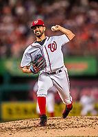 15 August 2017: Washington Nationals starting pitcher Gio Gonzalez on the mound against the Los Angeles Angels at Nationals Park in Washington, DC. The Nationals defeated the Angels 3-1 in the first game of their 2-game series. Mandatory Credit: Ed Wolfstein Photo *** RAW (NEF) Image File Available ***