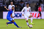 Ali Jaafar Madan of Bahrain (R) fights for the ball with Pronay Halder of India (L) in action during the AFC Asian Cup UAE 2019 Group A match between India (IND) and Bahrain (BHR) at Sharjah Stadium on 14 January 2019 in Sharjah, United Arab Emirates. Photo by Marcio Rodrigo Machado / Power Sport Images