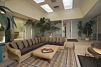 Contemporary living room with large sofa