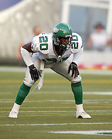 Kennedy Nkeyasen Saskatchewan Roughriders 2003. Photo Scott Grant