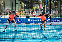 Netherlands, September 6,  2020, Amsterdam, Padel Dam, NK Padel, National Padel Championships, Men's doubles final: Uriël Maarsen (NED) and Bram Meijer (NED) (R)<br /> Photo: Henk Koster/tennisimages.com