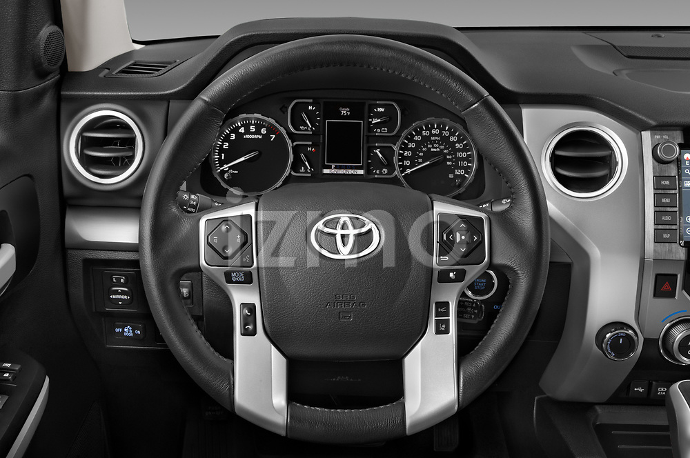Car pictures of steering wheel view of a 2020 Toyota Tundra TRD-Pro 4 Door Pick-up Steering Wheel
