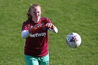 Courtney Brosnan of West Ham during West Ham United Women vs Brighton & Hove Albion Women, Barclays FA Women's Super League Football at the Chigwell Construction Stadium on 15th November 2020