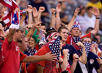 US Fans cheer on their team at the start of an international friendly at the New Meadowlands Stadium in East Rutherford, NJ. Brazil defeated the USMNT, 2-0.