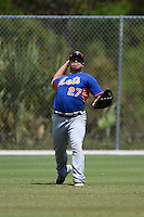 New York Mets Vicente Lupo (27) during practice before a minor league spring training game against the St. Louis Cardinals on April 1, 2015 at the Roger Dean Complex in Jupiter, Florida.  (Mike Janes/Four Seam Images)