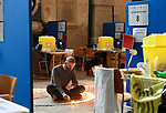Pictured: Tyler Ringwood-Hoare lighting the candles for the HOPE candle feature at Salisbury cathedral. <br /> <br /> As we approach the one year anniversay since the UK went in to its first lockdown due to COVID-19, Salisbury cathedral has set up a lit candle feature as a sign of encouragement for the public. The feature, which used 1,000 candles in total, is meant to inspire hope as the government's plans for the UK to leave its third and final lockdown are implemented. <br /> <br /> The temporary feature has been set up during a free day from its vaccination schedule, which has been taken place at the cathedral since 16th January. An estimated 1,000 daily vaccinations take place at Salisbury cathedral on three scheduled days a week, approaching 20,000 inoculations since the scheme began.<br /> <br /> © Ewan Galvin/Solent News & Photo Agency<br /> UK +44 (0) 2380 458800