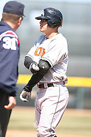 April 15th 2008:  Outfielder Lou Montanez (21) of the Bowie Baysox, Class-AA affiliate of the Baltimore Orioles, during a game at Jerry Uht Park in Erie, PA.  Photo by:  Mike Janes/Four Seam Images