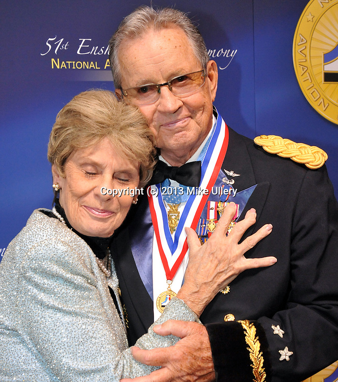 """The Class of 2013 was enshrined in the National Aviation Hall of Fame, during ceremonies at the Hope Hotel on October 4, 2013. This year's class includes C. Alfred """"Chief"""" Anderson, Patrick Brady, Robert """"Hoot"""" Gibson, and Dwane Wallace."""