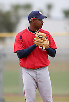 Washington Nationals minor leaguer Franklin Nunez during Spring Training at the Carl Barger Training Complex on March 20, 2007 in Melbourne, Florida.  (Mike Janes/Four Seam Images)