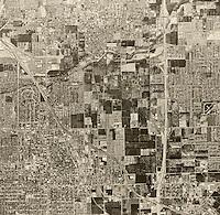 historical aerial photograph Santa Ana, California, 1963