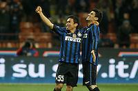 """Esultanza di Yuto Nagatomo Inter..Celebration..Milano10/12/2011 Stadio """"S.Siro""""..Football / Calcio Serie A 2011/2012..Inter vs Fiorentina..Foto Paolo Nucci Insidefoto"""