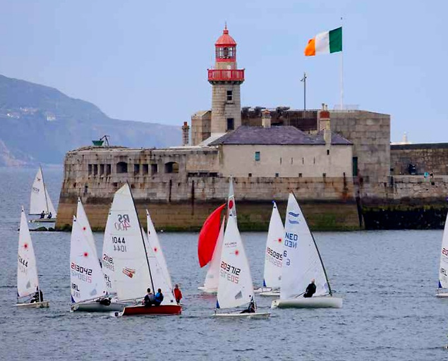 Dun Laoghaire Dinghy mix. In all, DBSC caters for more than 30 classes. Photo: DBSC