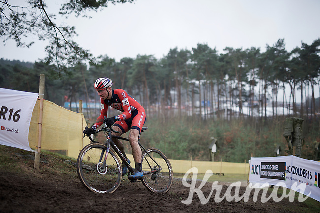 Jeremy Powers (USA/Rapha-Focus) had a tough day on the bike<br /> <br /> Men's Elite Race<br /> <br /> UCI 2016 cyclocross World Championships,<br /> Zolder, Belgium