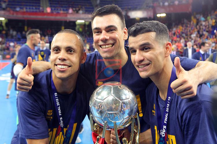 League LNFS 2018/2019.<br /> Play Off. Game: 5.<br /> FC Barcelona Lassa vs El Pozo Murcia: 3-2.<br /> Ferrao, Sergio Lozano & Esquerdinha.