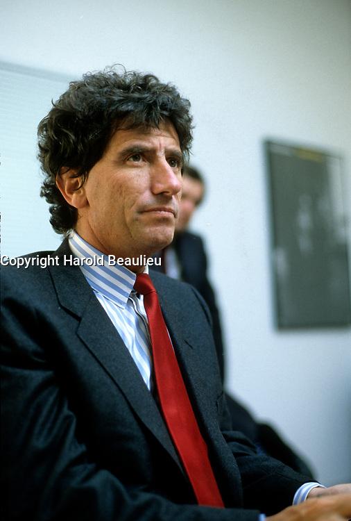 Le Ministre Francais de la Culture Jack lang, circa 1984.<br /> <br /> Photo  : Harold Beaulieu- Agence Quebec Presse