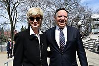 C.A.Q. Leader Francois Legault <br /> attend Jeanine Sutto funerals, April 10, 2017.<br /> <br /> PHOTO  :  Agence Quebec Presse