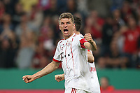 of  Thomas Mueller #25 (FC Bayern Muenchen)  1:3, Bayer 04 Leverkusen vs. FC Bayern Muenchen, Football, semi final , DFB-Pokal, 17.04.2018 *** Local Caption *** © pixathlon<br /> Contact: +49-40-22 63 02 60 , info@pixathlon.de