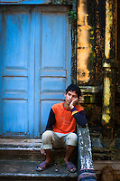Resting at an old Battambang Monastery, Cambodia