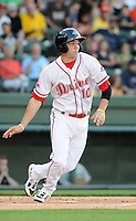 Catcher Blake Swihart (10) of the Greenville Drive in a game against the Lexington Legends on May 2, 2012, at Fluor Field at the West End in Greenville, South Carolina. Swihart was a first-round pick (26th overall) by the Boston Red Sox in the 2011 First-Year Player Draft. Lexington won, 4-2. (Tom Priddy/Four Seam Images)