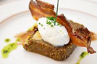 pate with foie gras and pain epice cream mousse and crispy bacon chateau phelan segur st estephe medoc bordeaux france