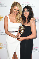Tess Daly and Claudia Winkleman<br /> in the winners room at the 2016 BAFTA TV Awards, Royal Festival Hall, London<br /> <br /> <br /> ©Ash Knotek  D3115 8/05/2016