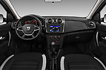 Stock photo of straight dashboard view of 2017 Dacia Sandero Stepway 5 Door Hatchback Dashboard