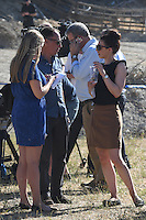 """FAO JANET TOMLINSON, DAILY MAIL <br /> Pictured: Members of the press at the field where the search is taking place in Kos, Greece. Friday 30 September 2016<br /> Re: Police teams searching for missing toddler Ben Needham on the Greek island of Kos have said they are """"optimistic"""" about new excavation work.<br /> Ben, from Sheffield, was 21 months old when he disappeared on 24 July 1991 during a family holiday.<br /> Digging has begun at a new site after a fresh line of inquiry suggested he could have been crushed by a digger.<br /> South Yorkshire Police (SYP) said it continued to keep an """"open mind"""" about what happened to Ben."""