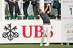 Nicholas Fung of Malaysia tees off the first hole during the 58th UBS Hong Kong Golf Open as part of the European Tour on 08 December 2016, at the Hong Kong Golf Club, Fanling, Hong Kong, China. Photo by Marcio Rodrigo Machado / Power Sport Images