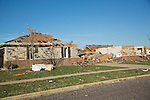 Ruined houses after tornado