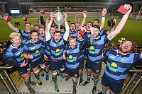 Wednesday 2nd January 2019 | MMW Junior Cup Final 2019<br /> <br /> Adam McGregor and his Dromore team celebrate winning the 2019 MMW Ulster Junior Cup Final between Ballynahinch RFC and Dromore RFC at Kingspan Stadium, Ravenhill Park, Belfast, Northern Ireland. Photo by John Dickson / DICKSONDIGITAL