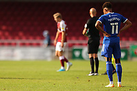 5th September 2020; PTS Academy Stadium, Northampton, East Midlands, England; English Football League Cup, Carabao Cup, Northampton Town versus Cardiff City; A dejected Josh Murphy of Cardiff City after the 3-0 loss