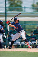 GCL Braves left fielder Jefrey Ramos (22) at bat during a game against the GCL Pirates on July 26, 2017 at Pirate City in Bradenton, Florida.  GCL Braves defeated the GCL Pirates 12-5.  (Mike Janes/Four Seam Images)