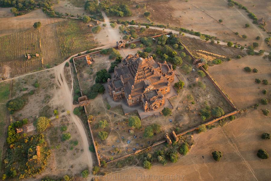 aerial view of the Dhammayangyi pagoda, Bagan, Myanmar
