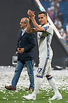 Real Madrid Lucas Vazquez during the celebration of the 13th UEFA Championship at Santiago Bernabeu Stadium in Madrid, June 04, 2017. Spain.<br /> (ALTERPHOTOS/BorjaB.Hojas)