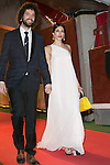 Nerea Barros and her Boyfriend Juan Ibanez attends the Feroz Cinema Awards 2015 at Las Ventas, Madrid,  Spain. January 25, 2015.(ALTERPHOTOS/)Carlos Dafonte)