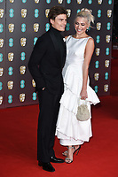 Oliver Cheshire and Pixie Lott<br /> arriving for the BAFTA Film Awards 2020 at the Royal Albert Hall, London.<br /> <br /> ©Ash Knotek  D3554 02/02/2020