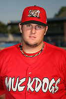 September 5, 2009:  First Baseman Matthew Adams of the Batavia Muckdogs before a game at Dwyer Stadium in Batavia, NY.  The Muckdogs are the Short-Season Class-A affiliate of the St. Louis Cardinals.  Photo By Mike Janes/Four Seam Images