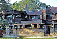 F.L. Wright: House and Studio, 1889-95. Chicago Ave.  Photo '76.
