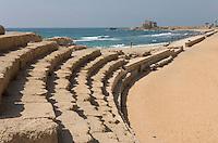 Asie/Israël/Galilée/Césarée: Ruines de Césarée- l'hippodrome romain  //     Asia, Israel, Galilee, Caesarea Maritima: The ruins of Caesarea Maritima, Roman Hippodrome